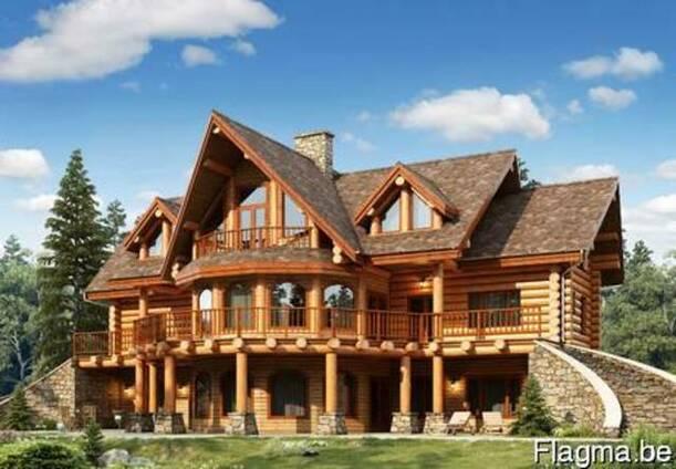 Деревянные дома- оцилиндровка, дикий сруб.