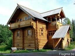 Деревянные дома- оцилиндровка, дикий сруб. - фото 3