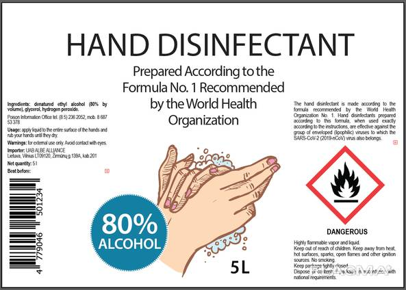 Hand disinfectant
